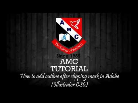 How to add outline after clipping mask in Adobe Illustrator CS6