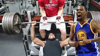 CAN I LIFT MORE THAN KEVIN DURANT CHALLENGE!!