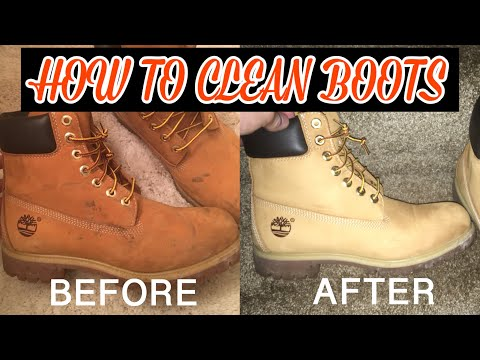 HOW TO CLEAN TIMBERLAND BOOTS/UGGS!