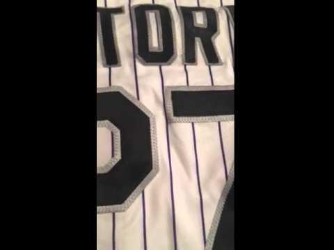 Trevor Story Autographed Colorado Rockies Signed Baseball Jersey - Powers Autographs