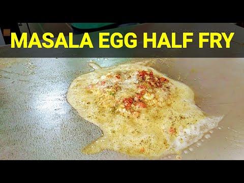 MASALA EGG HALF FRY II RAJU OMLET VADODARA II BUTTERLY RICH II WORLD'S BEST STREET FOOD