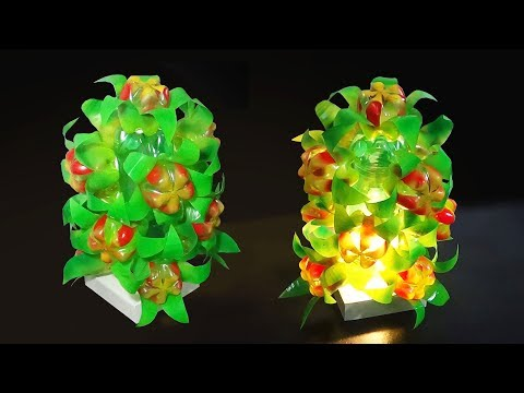 DIY Home decor - Floral Lamp/Light Shade With Plastic Bottle | Best Use Of Waste |