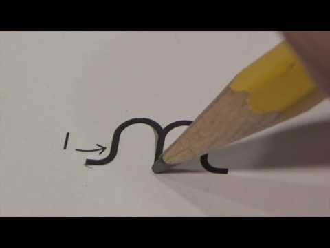 Cursive lower case  letter n with Ocean Sounds ( Handwriting, Writing, Penmanship)