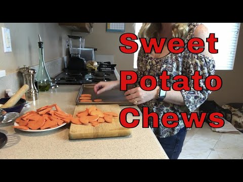 Dog Treats Homemade Sweet Potato Chews, Grain Free