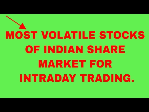 MOST VOLATILE STOCKS OF INDIAN SHARE MARKET FOR INTRADAY TRADING.