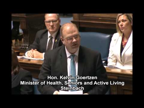 Minister Goertzen introduces the Health Sector Bargaining Unit Review Act