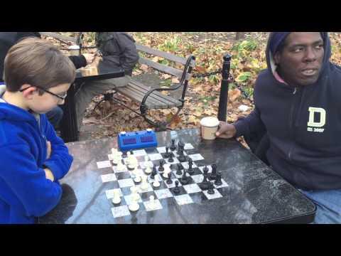 Washington Square Chess Hustling - John Beats Cornbread TWICE