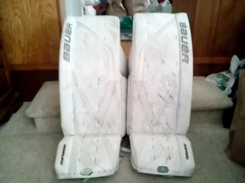 Cleaning goalie pads and blocker and glove