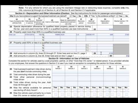 form 4562 new car depreciation