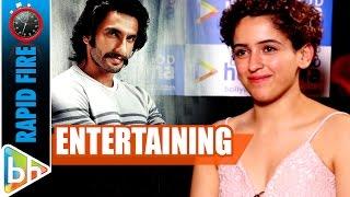 Sanya Malhotra's ENTERTAINING Rapid Fire On Ranveer Singh   Aamir Khan   Dangal