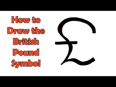 How to Draw a British Pound Symbol