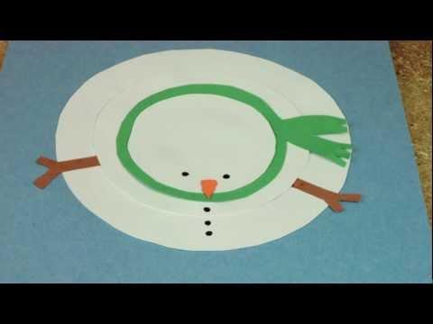 Making a Paper Circle Snowman
