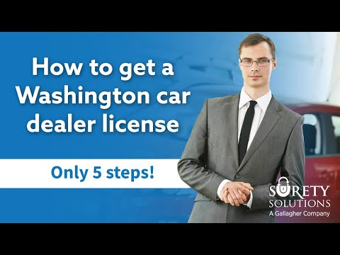 How to get a Washington Car Dealer License