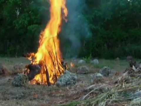 One Match Fire: Lady Inferno burns wood for lye to make soap