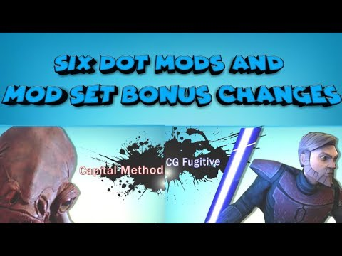 Six Dot Mods and Mod Set Changes Explained  star wars galaxy of heroes swgoh