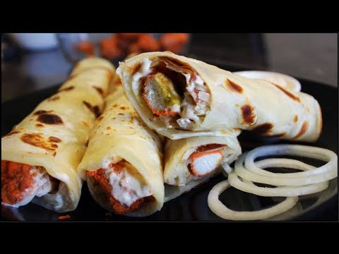 Chicken Paratha Roll-Paratha Roll Recipe By Cook with Madeeha
