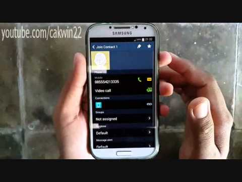 Samsung Galaxy S4: How to join contacts (Android Kitkat)