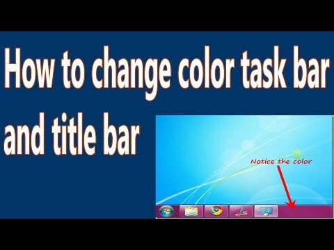 How to change color taskbar and title bar in hindi