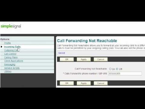 Simple Signal Call Forward Not Reachable