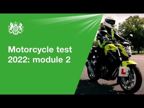 Motorcycle test 2018 - module 2: official DVSA guide