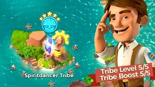 Boom Beach FULLY Boosted MAXED Level 5 Tribe!! (Best Tribe to Upgrade Gameplay!)