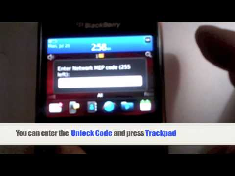 How to Unlock Blackberry Curve 9360 by MEP Unlock code At&t, T-Mobile, Telus, Bell, Rogers, Fido