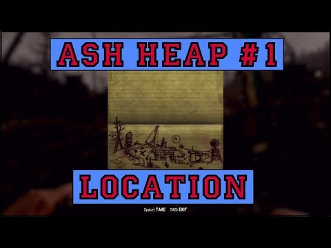 Fallout 76 | Ash Heap Treasure Map #1 LOCATION!