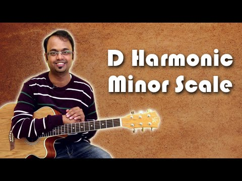 How To Play - D Harmonic Minor Scale - Guitar Lesson For Beginners