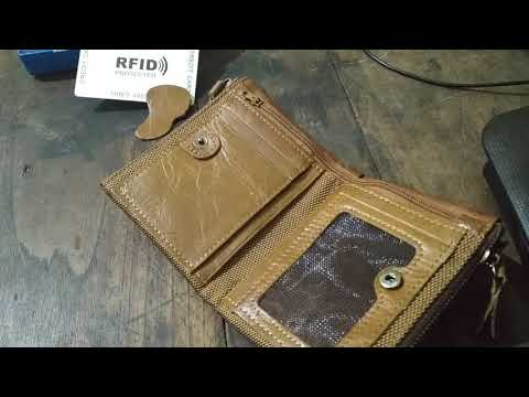 contacts leather wallet unboxing