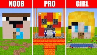Noob vs. Pro vs. Girl House Build Battle! (Preston & Brianna)