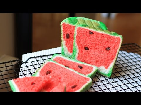 Watermelon Bread Recipe/烤西瓜面包