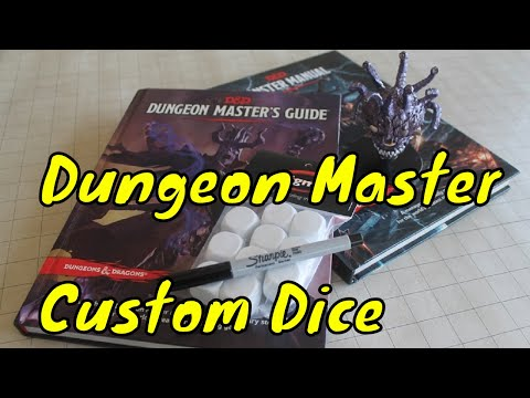 Making Custom Dungeon Master Dice.