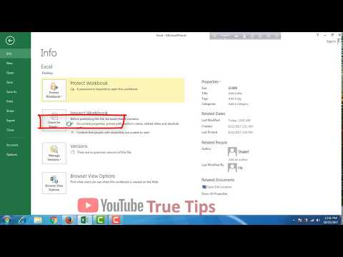 How to Remove Password from Excel File Bangla