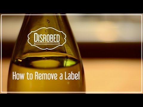 Remove Labels from Glass Bottles and Jars