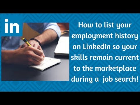 Filling in the Employment Gap on LinkedIn and Resume - Marketing with Courtney