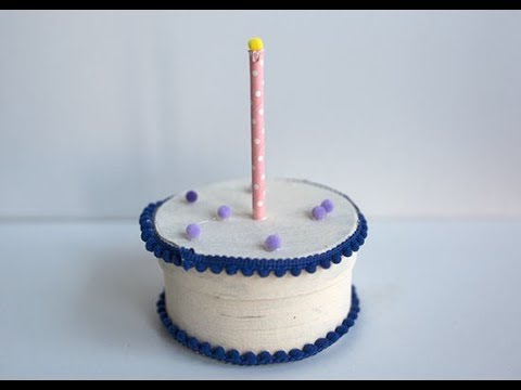 DIY Birthday Cake Gift Box