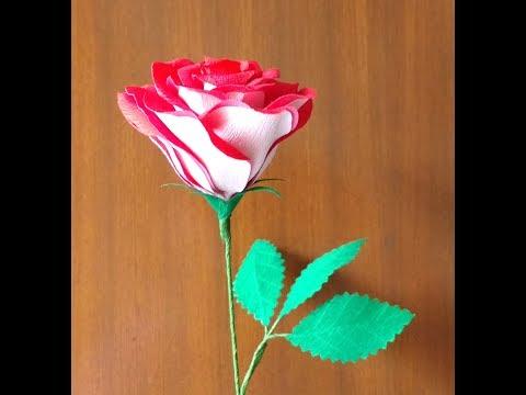 How to make Paper Flower Tudor Rose \ Osiria Rose (flower # 172)