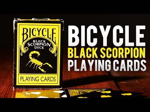 Deck Review - Bicycle Black Scorpion Deck of Playing cards Magic Makers