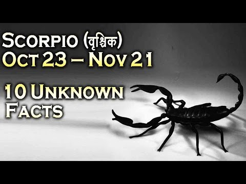 10 unknown facts about Scorpio   Oct 23 - Nov 21   Horoscope   Do you know ?