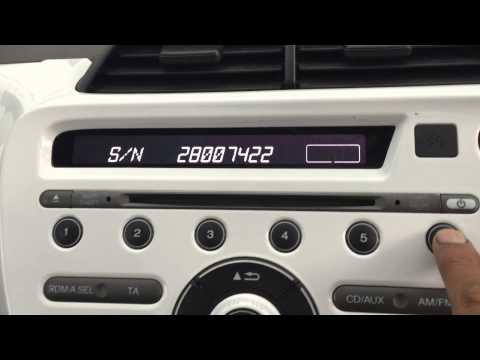 How to enter radio code on Honda Jazz
