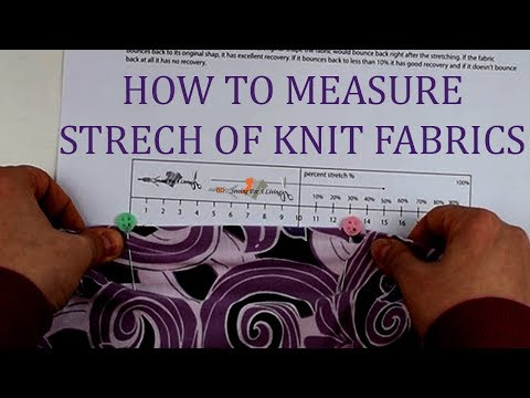 Sewing with knits - how to measure stretch percentage