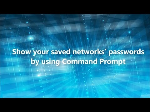 Show Your Saved Networks' Passwords by Using CMD Windows 10