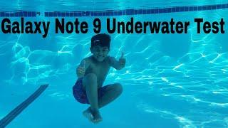 Tmobile Samsung Galaxy Note  9 Underwater Pool Testing The IP68 Certification Waterproof???