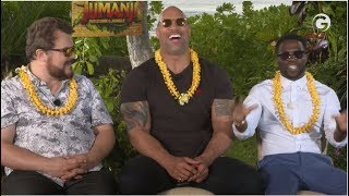 Jumanji: Welcome To The Jungle Interviews: The Rock, Kevin Hart & Jack Black
