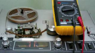 I test my tape recorder
