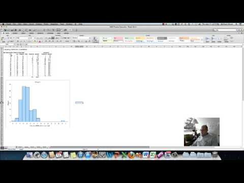 Histogram with MegaStat Excel Mac