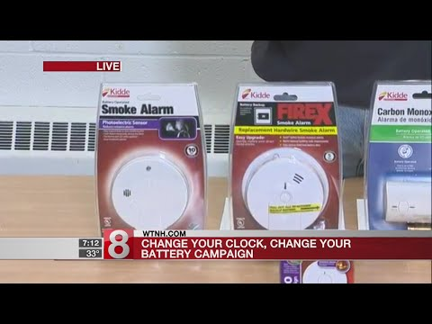 When you change your clocks, change your smoke detector batteries