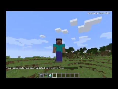 How to go on Creative Mode on Minecraft Demo