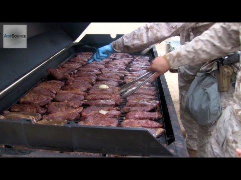 Military Food: Marines Enjoy a Warriors Meal