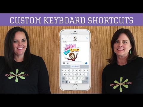 Custom Keyboard Shortcuts - iPhone / iPad